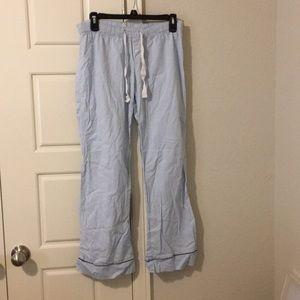 Gap body women's pale blue pj pants size small